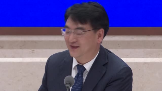 """stockvideo's en b-roll-footage met chinese officials say the country's covid-19 vaccine development programme is in a """"leading position"""" and they are on track to achieve an annual... - clean"""