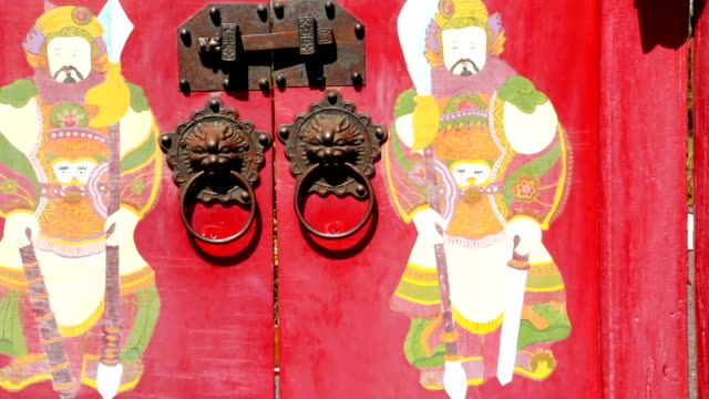 chinese old door - door knocker stock videos & royalty-free footage