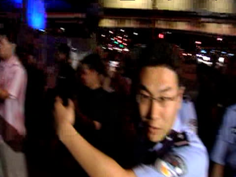 chinese police officers block press on 20th anniversary of tiananmen square massacre china; 4 june 2009 - tiananmen square massacre stock videos & royalty-free footage