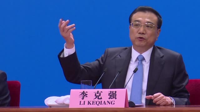 chinese premier li keqiang calls on the united states to not act emotionally and to avoid a trade war as president donald trump considers new... - trade war stock videos & royalty-free footage