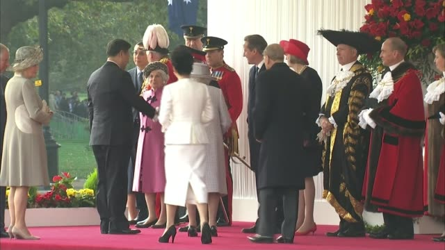 chinese president state visit to britain england london horse guards parade ext chinese president xi jinping from car jinping and wife first lady... - state visit stock videos & royalty-free footage