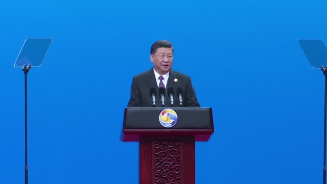 chinese president xi jingping opens the belt and road summit - belt stock videos & royalty-free footage