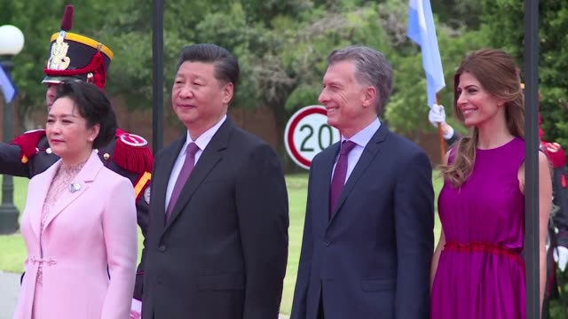 chinese president xi jinping meets with argentine president mauricio macri following the g20 summit and the two world leaders sign bilateral... - mauricio macri stock videos and b-roll footage