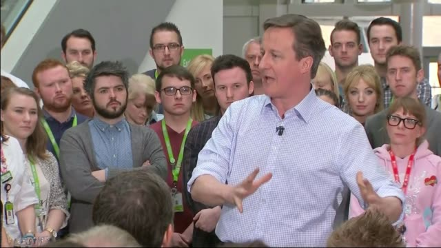 Chinese President Xi Jinping visits Manchester LIB / 152015 Leeds Asda HQ David Cameron speech during the General Election campaign SOT A Northern...