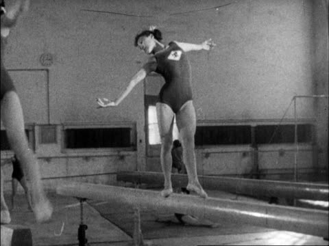 chinese produced cultural survey of 1961 china - gymnastikanzug stock-videos und b-roll-filmmaterial
