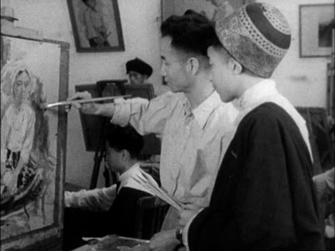 a chinese produced cultural survey of 1962 china - artist's model stock videos and b-roll footage