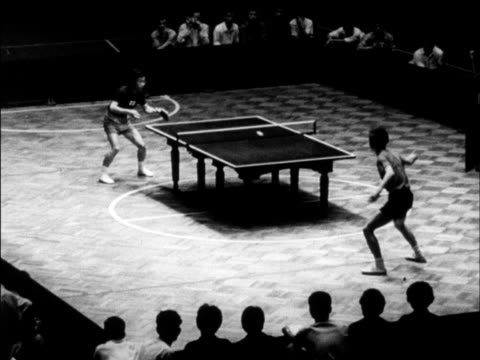 chinese produced cultural survey of 1962 china - table tennis stock videos & royalty-free footage