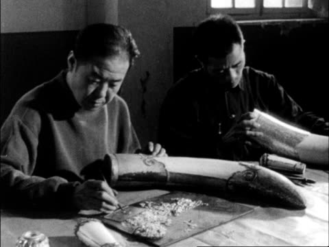 chinese produced cultural survey of 1962 china - gold leaf stock videos & royalty-free footage