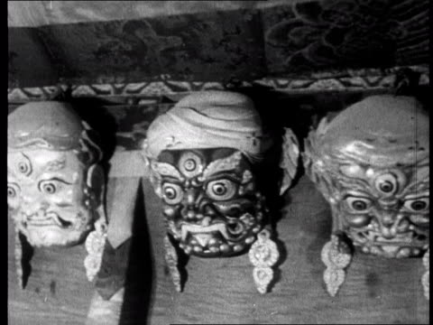chinese propaganda film on tibet made one year after the dalai lama fled to india in 1959 - 1959 stock videos and b-roll footage