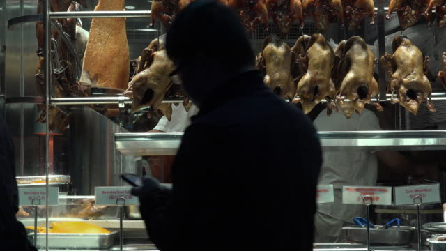 chinese restaurant selling chicken duck - roast chicken stock videos & royalty-free footage