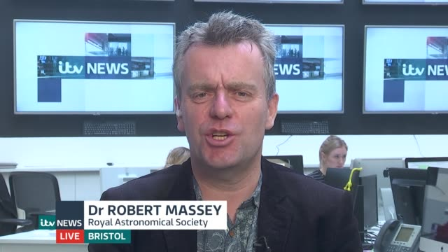chinese spacecraft makes first ever landing on the far side of the moon england london gir int dr robert massey live 2way interview from bristol sot - raumfahrzeug stock-videos und b-roll-filmmaterial