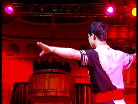 chinese state circus in london; england: london: islington: highbury fields: int male chinese state circus tightrope walker performing in rehearsals,... - stunt stock videos & royalty-free footage