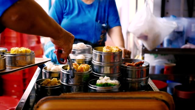 chinese steamed soup dumpling is real in penang, malaysia - malaysia stock videos & royalty-free footage