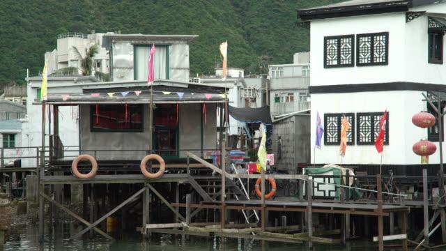 chinese stilt house - stilt house stock videos & royalty-free footage