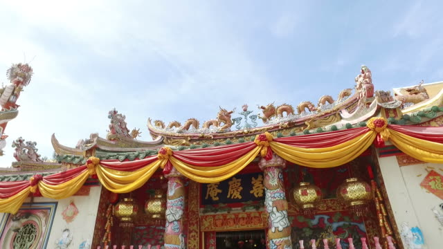 Chinese stijl heiligdom op Ayuthaya, Thailand