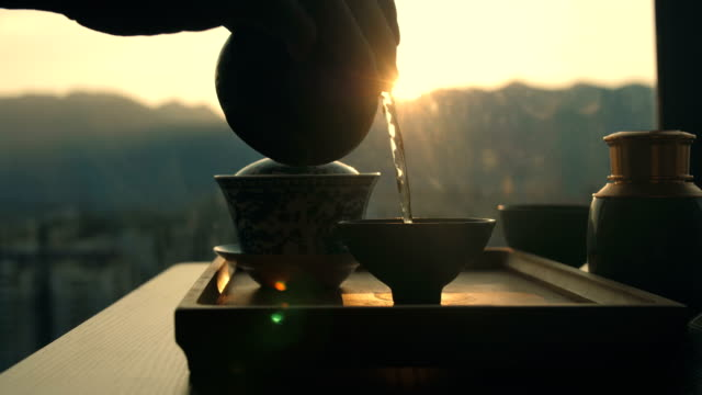 chinese tea - tea cup stock videos & royalty-free footage