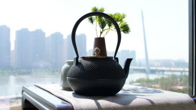 chinesische Teetasse und Teekanne