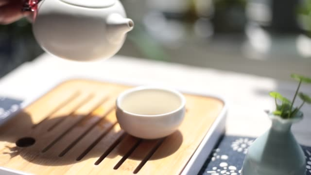 chinese teapot set - chinese tea set stock videos and b-roll footage