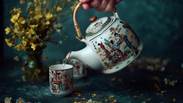 chinese teapot - tea cup stock videos & royalty-free footage