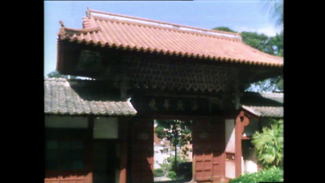 chinese temple building exteriors in nagasaki, japan; 1981 - only mid adult women stock videos & royalty-free footage