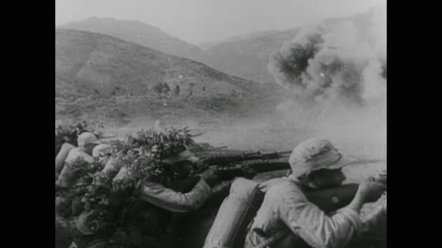 wwii chinese troops battle japanese forces at capital nanking - 1937 stock-videos und b-roll-filmmaterial