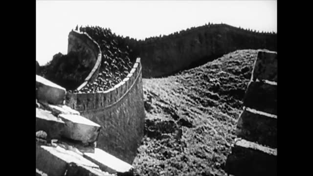 chinese troops on the great wall of china - 1942 stock videos & royalty-free footage