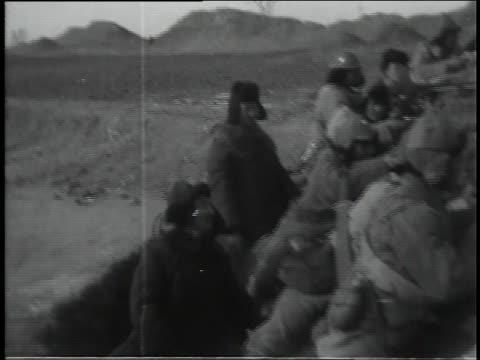 chinese troops train in the field. - manchuria stock videos & royalty-free footage