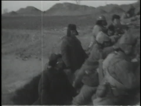 chinese troops train in the field. - manchuria region stock videos & royalty-free footage