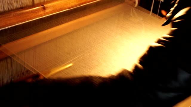 chinese vintage  loom weaving - loom stock videos & royalty-free footage