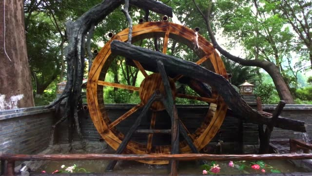 chinese water mill wheel - water wheel stock videos and b-roll footage
