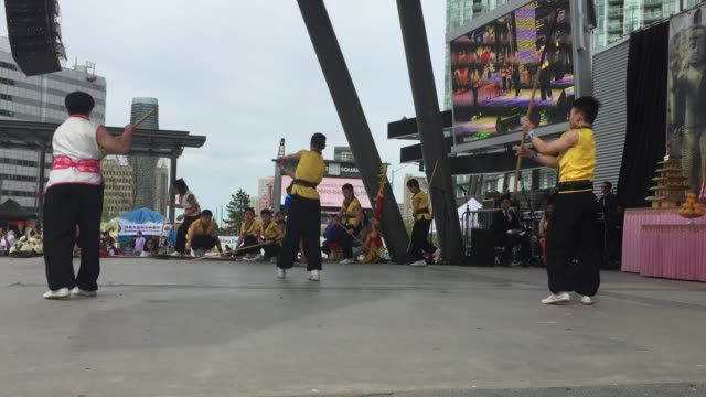 chinese youth demonstrate martial arts during the festival of vesak in mississauga ontario canada on may 26 2019 vesak is the most important of the... - buddha's birthday stock videos and b-roll footage