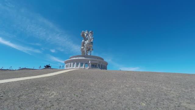 chinggis khan statue complex, mongolia - ulan bator stock videos & royalty-free footage