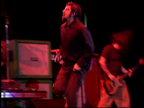 chino moreno at the kroq weenie roast at verizon amphitheater in irvine california on june 14 2003 - kroq weenie roast stock videos & royalty-free footage
