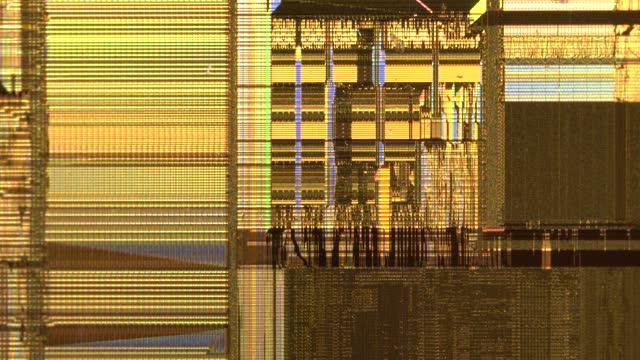 stockvideo's en b-roll-footage met cpu chip under microscopy - litho