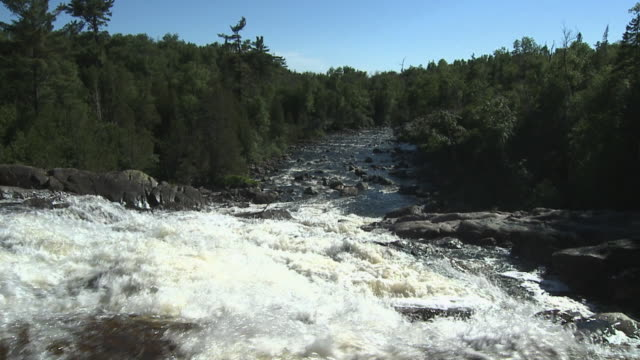 slo mo, ws, chippewa falls, sault ste. marie, ontario, canada - stationary process plate stock videos & royalty-free footage