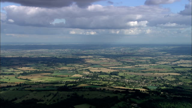 chipping campden  - aerial view - england, gloucestershire, cotswold district, united kingdom - cotswolds stock videos & royalty-free footage