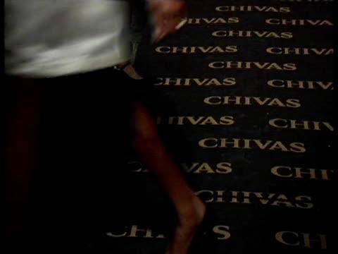 chivas present the tuxedo tribute with three model«s generation. madrid, spain . - クララ・アロンソ点の映像素材/bロール