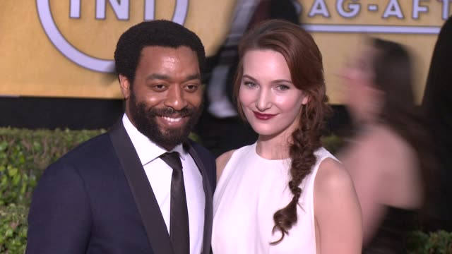 chiwetel ejiofor at 20th annual screen actors guild awards arrivals at the shrine auditorium on in los angeles california - シュラインオーディトリアム点の映像素材/bロール