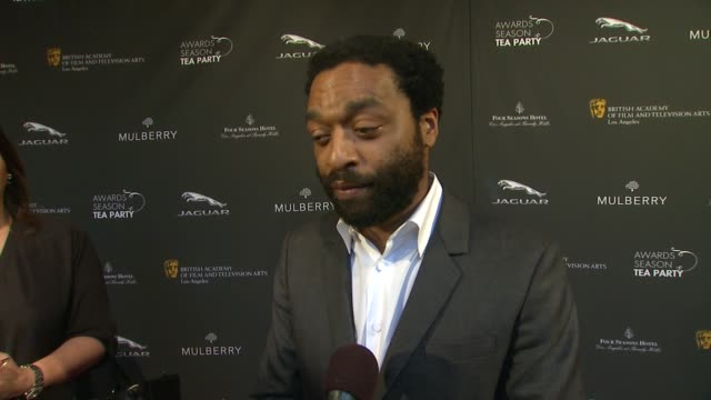 interview chiwetel ejiofor on being a part of the afternoon what bafta's support means to him the last time he had high tea at bafta la 2014 awards... - bafta la tea party stock videos and b-roll footage