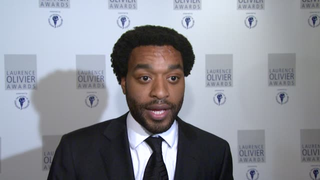 Chiwetel Ejiofor on his new film Redbelt directed by David Mamet at the The Laurence Olivier Awards at the Grosvenor House in London on March 9 2008