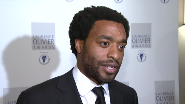 chiwetel ejiofor on how there's been a revival in public interest in theatres in london at the the laurence olivier awards at the grosvenor house in... - revival stock videos & royalty-free footage