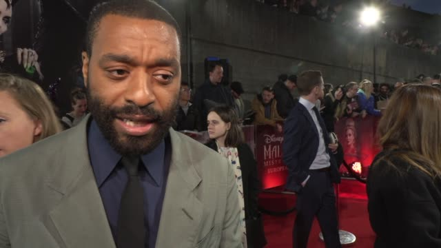 chiwetel ejiofor on wanting to work with angelina jolie and what kind of colleague she isat odeon imax waterloo on october 09 2019 in london england - europe stock videos & royalty-free footage