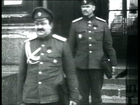 chkheidze's menshevik provisional government and constitution of petrograd soviet of workers' and soldiers' deputies pyotr yakubovich in uniform / st... - cyrillic script stock videos & royalty-free footage