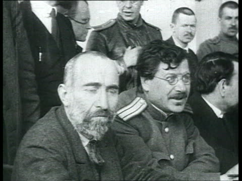 chkheidze's menshevik provisional government and constitution of petrograd soviet of workers' and soldiers' deputies party session at presidium with... - cyrillic script stock videos & royalty-free footage