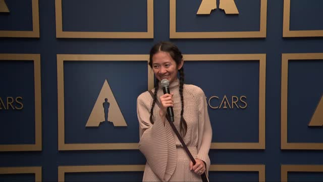 chloé zhao at the93rd annual academy awards - press roomonapril25, 2021. - academy awards stock videos & royalty-free footage
