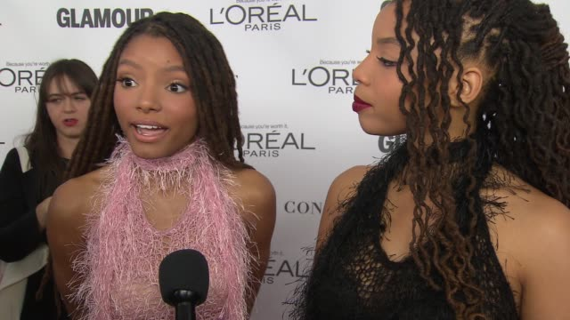 INTERVIEW Chloe Bailey Halle Bailey on making music and feminism at Glamour's 2017 Women Of The Year on November 13 2017 in New York City