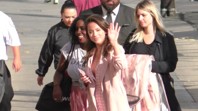 Chloe Bennet arrives for her guest appearance on Jimmy Kimmel Live at El Capitan Theater in Hollywood in Celebrity Sightings in Los Angeles