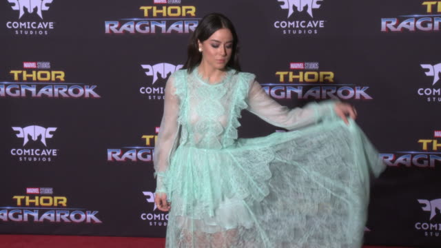 chloe bennet at the thor ragnarok premiere at the el capitan theatre on october 10 2017 in hollywood california - thor: ragnarok stock videos & royalty-free footage