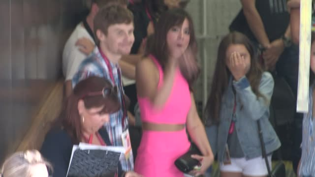 chloe bennet enters the 2014 comic con panel in san diego in celebrity sightings in san diego - san diego comic con stock videos and b-roll footage