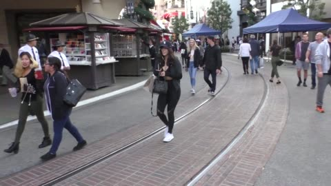 chloe bennet shopping at the grove in los angeles at celebrity sightings in los angeles on november 03, 2017 in los angeles, california. - the grove los angeles stock videos & royalty-free footage